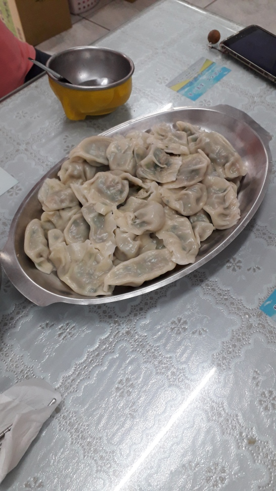 """My first attempt at folding dumplings... PF Chang's has nothing to worry about"""